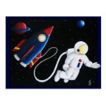 Space Man Post Cards
