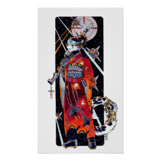 Space Marine Kimono Jaguar Poster