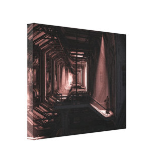 Space Marine - lone guard Gallery Wrapped Canvas