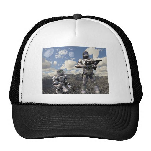 Space Marines on Deserted Planet Trucker Hats