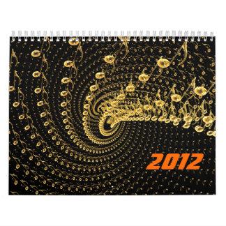Space melody swirl wall calendar