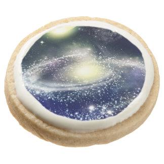 Space Round Premium Shortbread Cookie
