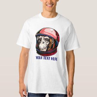 space monkey astronaut tshirt CUSTOMIZABLE 2