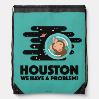 Space Monkey Drawstring Bag