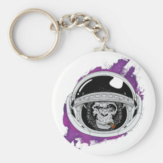 Space Monkey Purple Keychain