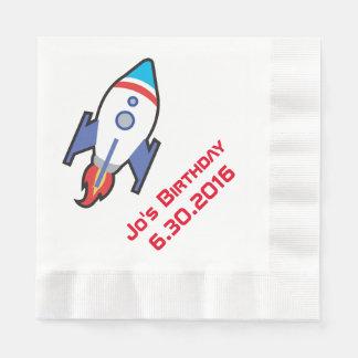 Space Monkey Rocket Customizable Napkin