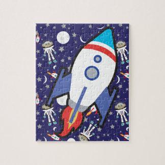 Space Monkey Rocket Ship Puzzle