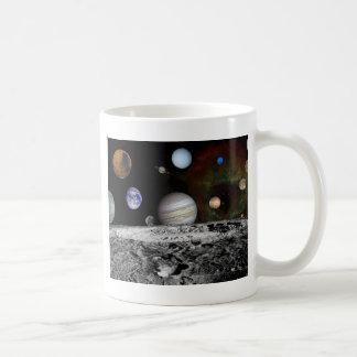 space montage coffee mug