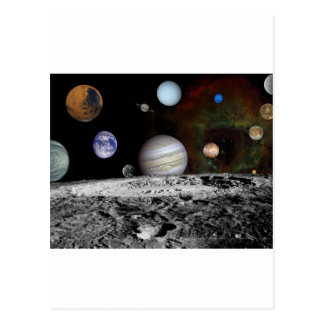 space montage postcard