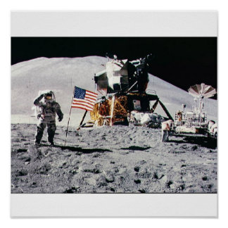 Space Moon Landing Poster