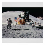 Space Moon Landing Posters