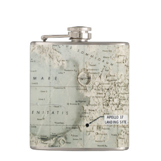 SPACE: MOON MAP, 1972 HIP FLASK