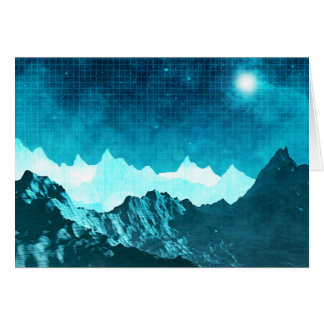 Space Mountains Card