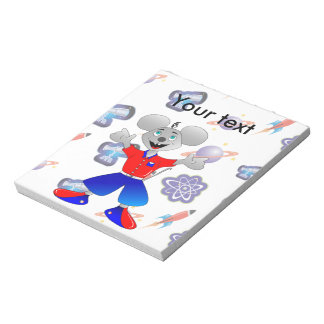 Space Mouse cartoon Notepad