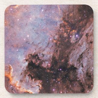 Space nebula beverage coaster