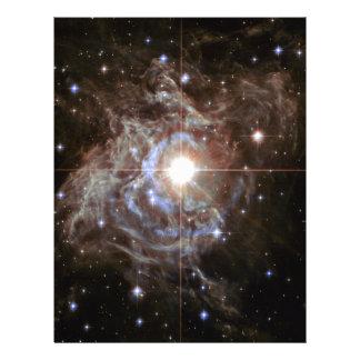 Space Nebula - Cepheid Variable Star RS Puppis Letterhead Template
