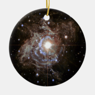 Space Nebula - Cepheid Variable Star RS Puppis Double-Sided Ceramic Round Christmas Ornament