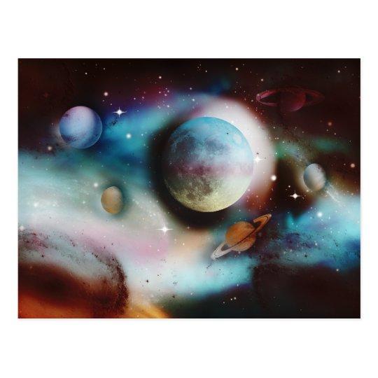 Space nebula & stars postcards