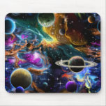 Space Nebula's and Planets Mouse Pad