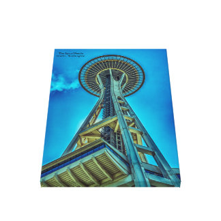 """Space Needle 24"""" x 36"""" Wrapped Canvas"""