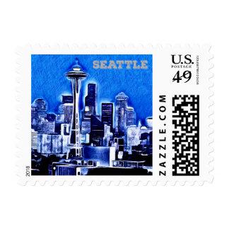 Space Needle - Seattle, Washington Postage Stamp