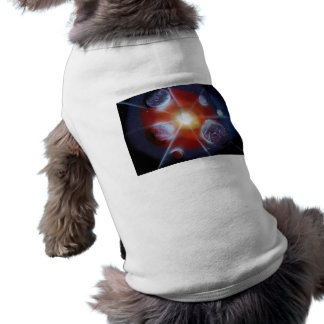 Space nova burst planets spraypainting doggie tee shirt