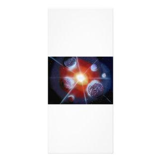 Space nova burst planets spraypainting custom rack cards