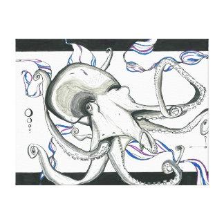 Space Octopus Canvas Canvas Print