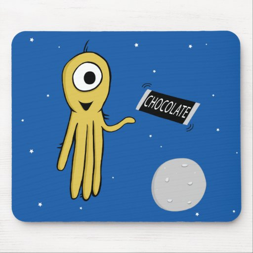 space octopus mouse pad