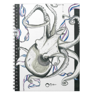 Space Octopus Notebook Note Books