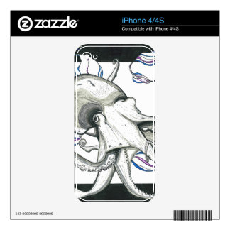 Space Octopus Phone Skin Skins For iPhone 4