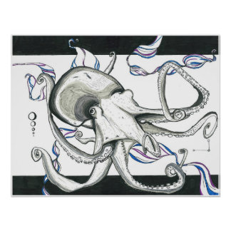 Space Octopus Poster Print