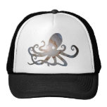 Space octopus trucker hat