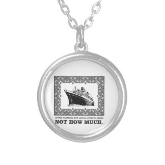 space on a ship not much silver plated necklace