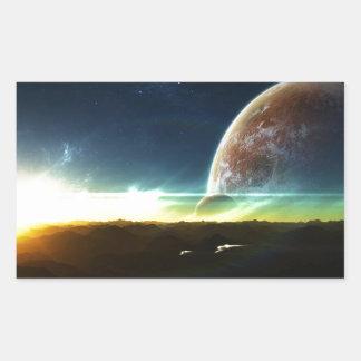 Space on the Horizon Rectangular Sticker