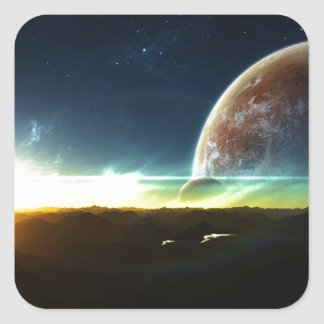 Space on the Horizon Square Sticker