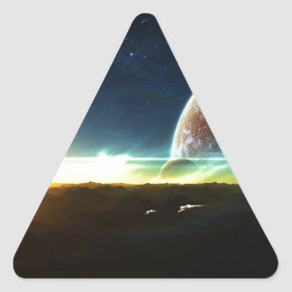 Space on the Horizon Triangle Sticker