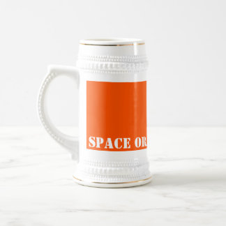 Space orange beer stein