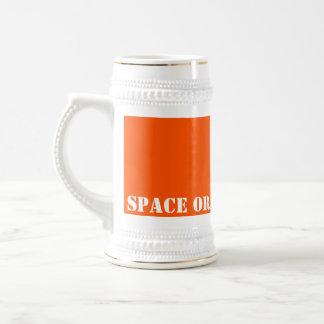Space orange beer stein