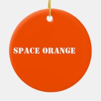 Space orange ceramic ornament