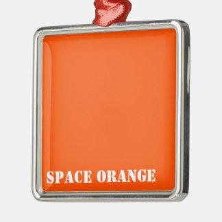 Space orange metal ornament