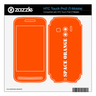Space orange HTC touch pro2 skins