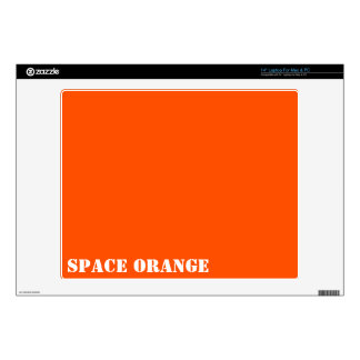 """Space orange decal for 14"""" laptop"""