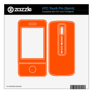 Space orange HTC touch pro skins