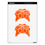 Space orange xbox 360 controller decal