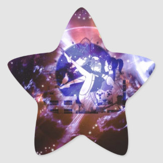 Space Orb Girl Star Sticker