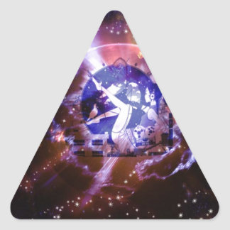 Space Orb Girl Triangle Sticker