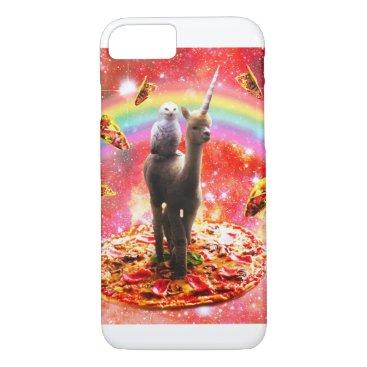 Space Owl Riding Alpaca Unicorn - Pizza & Taco iPhone 8/7 Case