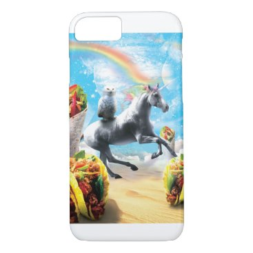 Space Owl Riding Unicorn - Taco & Burrito iPhone 8/7 Case