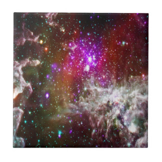 Space - Pacman Nebula Small Square Tile